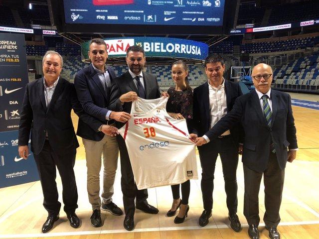 Presentación basket España-Bielorrusia