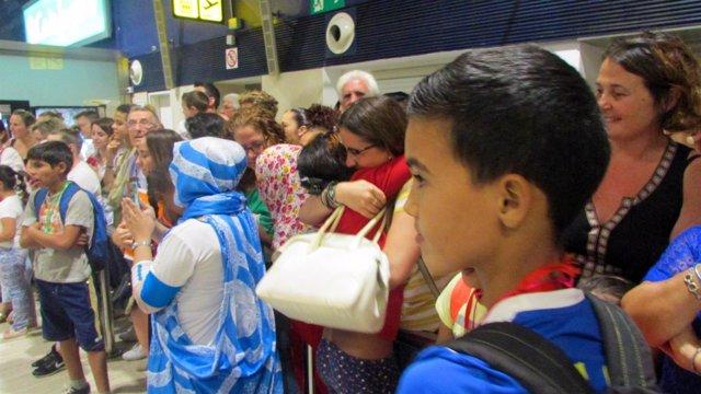 Niños saharauis llegan a Sevilla dentro del Programa Vacaciones en Paz