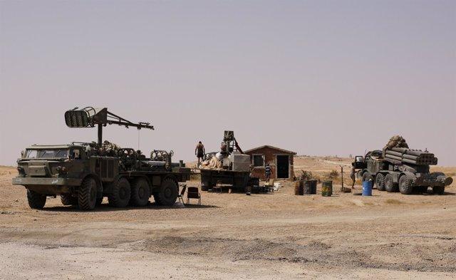 Ejército sirio en Deir Ez Zor