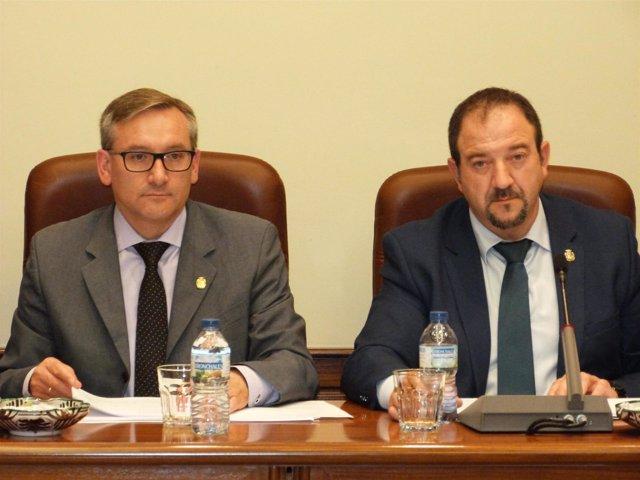 Joaquín Juste y Ramón Millán, vicepresidente y presidente de la DPT