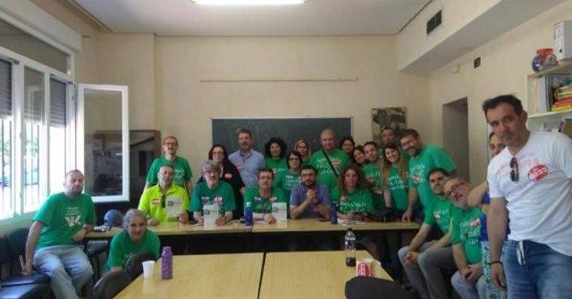 Encierro de delegados de CCOO en las juntas de personal