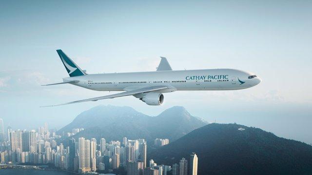 Avión Cathay Pacific