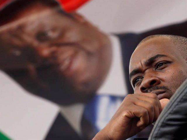 Nelson Chamisa, líder del MDC y candidato a la Presidencia de Zimbabue