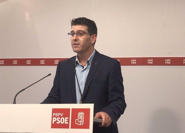 Jorge Rodríguez en la rueda de prensa