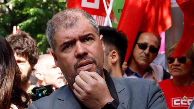 El secretario general de CCOO, Unai Sordo