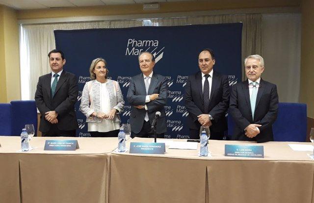 Rueda de prensa antes de la junta de accionistas de PharmaMar
