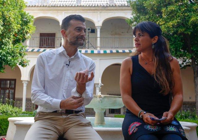 Antonio Maíllo y Teresa Rodríguez en una comparecencia conjunta