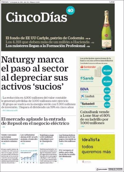 Las portadas de los periódicos económicos de hoy, viernes 29 de junio