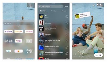Instagram añade una función para insertar música en sus fotografías y vídeos de Stories