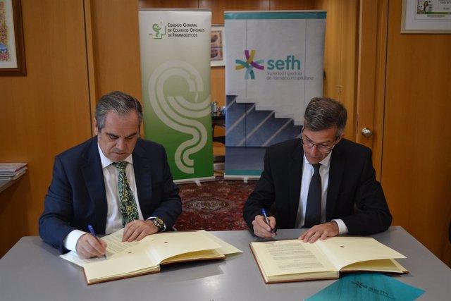 Firma de un convenio entre el CGCOF y la SEFH