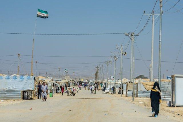 Campo de refugiados de Zaatari, en Jordania