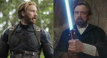 Mark Hamill y Chris Evans discuten si el sable láser de Luke puede con el escudo de Capitán América