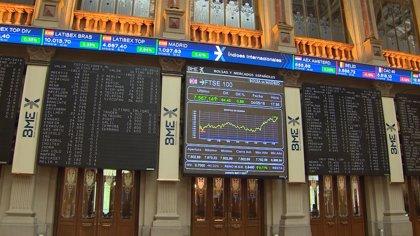 El Ibex 35 sube un 1% en la media sesión y lucha por los 9.700 puntos