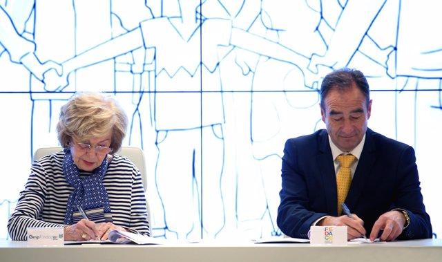 La firma del acuerdo entre FEDACE y la Fundación Gmp