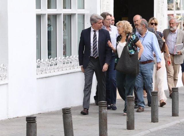 Ángel Garrido y Manuela Carmena
