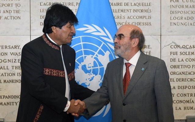 José Graziano y Evo Morales en Roma