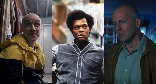 Samuel L. Jackson, James McAvoy y Burce Willis juntos en Glass