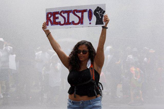 Manifestación contra la separación de menores inmigrantes en Washington