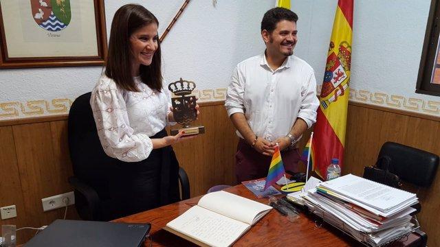 Gil Rosiña en su visita a Vivares