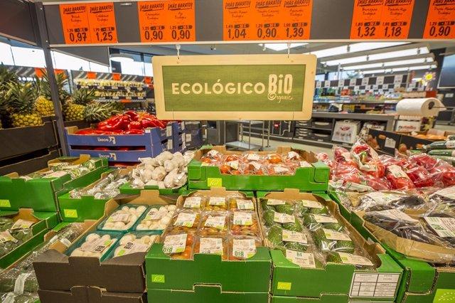 Línea bio de la nueva tienda de Lidl en Palafrugell (Girona)