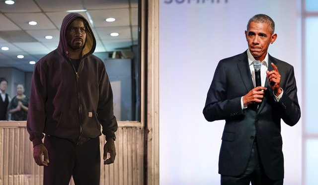 Luke Cage y Barack Obama