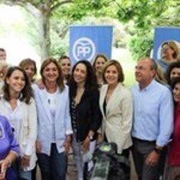 Monago en apoyo a la candidatura de Cospedal en un acto en Plasencia