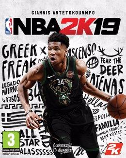 Giannis Antetokounmpo, portada de NBA 2k19