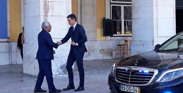 Pedro Sánchez se reúne con el primer ministro portugués, Antonio Costa