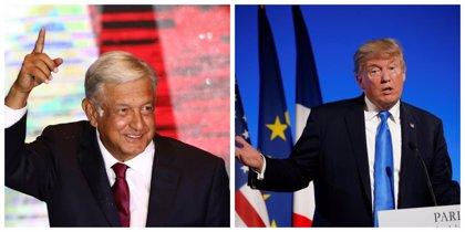 """López Obrador y Trump hablan por teléfono para explorar un """"acuerdo integral"""""""