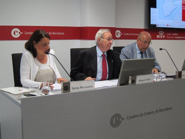 Sònia Recasens, Miquel Valls i Martí Parellada