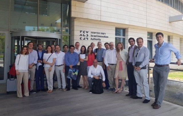 Componentes de la misión española en Israel