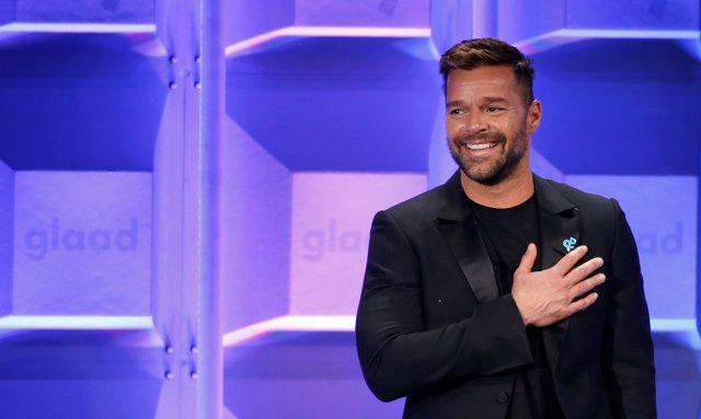 Presenter Ricky Martin speaks at the 29th Annual GLAAD Media Awards in Beverly H