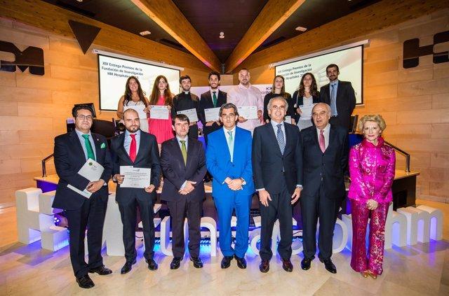 Los galardonados en la XIV Edición de los premios de la Fundación HM