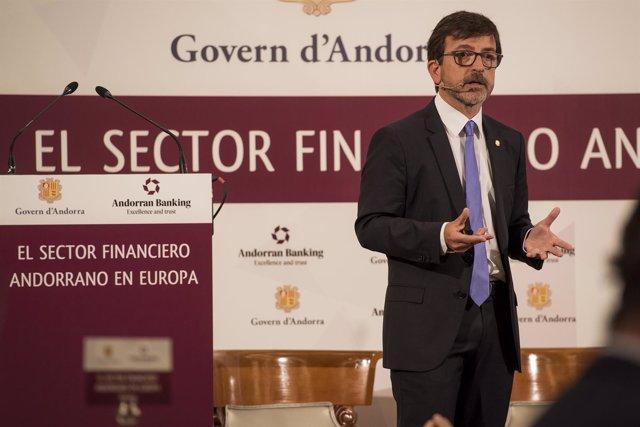 El ministro de Finanzas de Andorra Jordi Cinca
