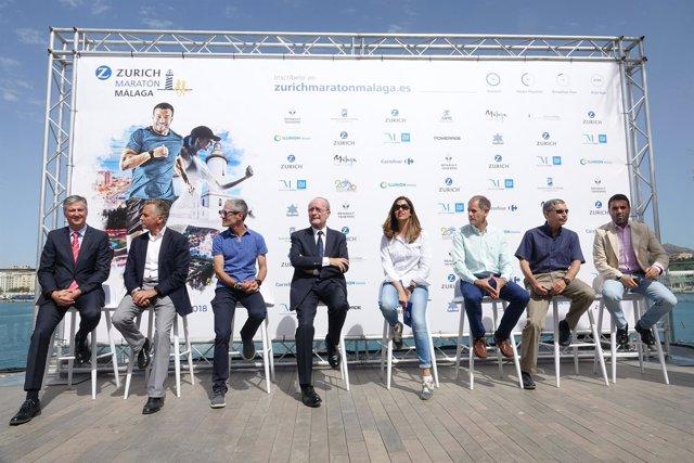 Zurich Maratón Málaga presentación farola málaga alcalde plata jacobo media