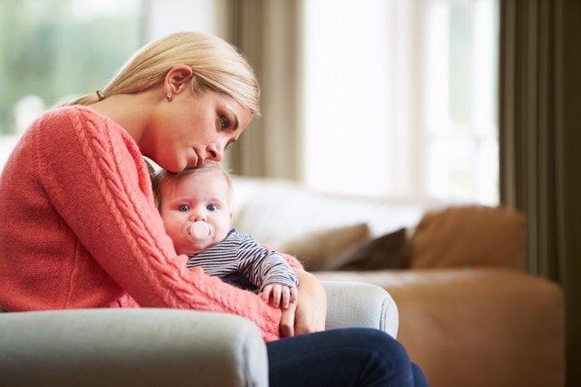 Depresión posparto, madre, bebé