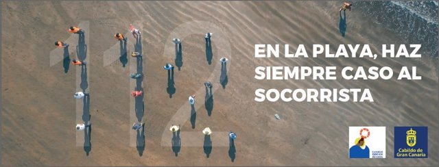 Imagen de la campaña de prevención contra ahogamientos impulsada por el Proyecto