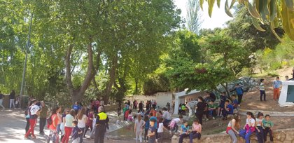 Medio millar de escolares de tres municipios jiennenses participan en el programa 'Por un millón de pasos'