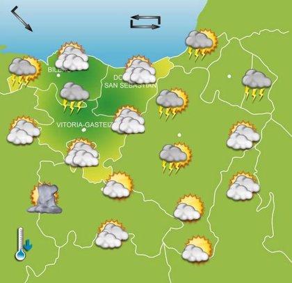 Vuelve la inestabilidad este miércoles a Euskadi, con nubosidad y chaparrones