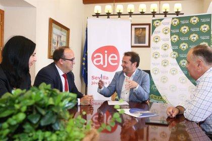 Acuerdo entre el Ayuntamiento de Mairena, Sodefesa y AJE Sevilla para fomentar el emprendimiento