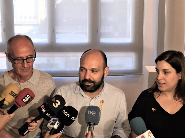 Josep Cruanyes (ANC) Marcel Mauri (Òmnium) Diana Riba (ACDC)