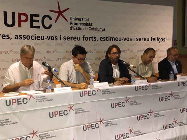 Jordi Serrano, Gerardo Pisarello, Camil Ros, Javier Pacheco i Oriol Lladó