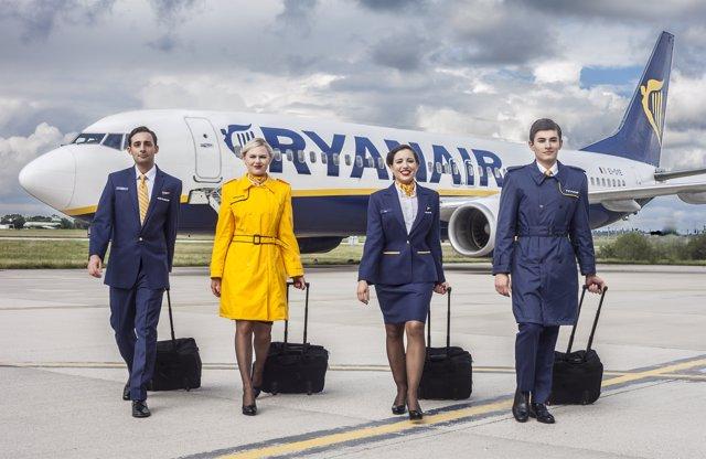 TCP de Ryanair en el exterior de un avión