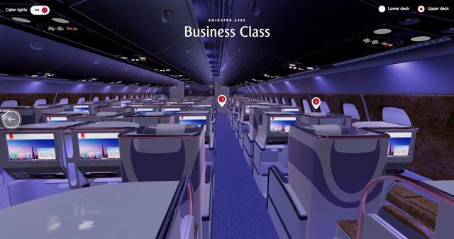 Realidad virtual en la wev de Emirates