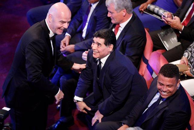 Gianni Infantino Diego Armando Maradona Ronaldo The Best