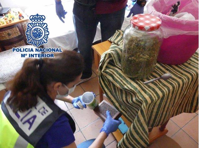 Marihuana bote cannabis policía agente intervención