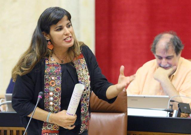 Teresa Rodríguez, portavoz parlamentaria de Podemos Andalucía.