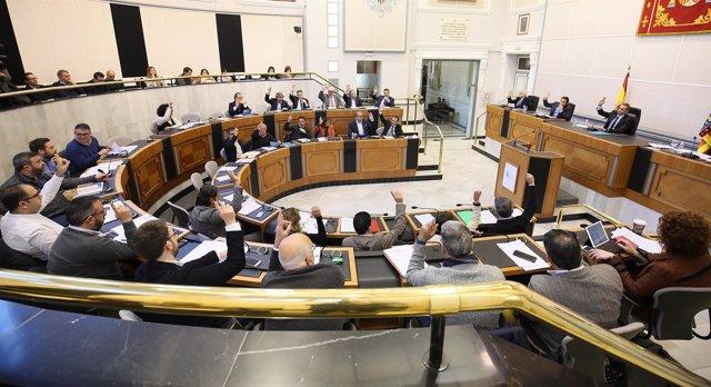 Pleno de la Diputación en imagen de archivo