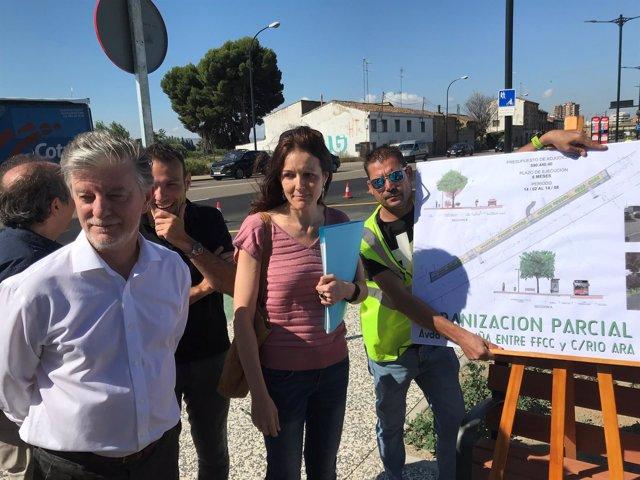El alcalde visita la reforma del primer tramo de la avenida Cataluña