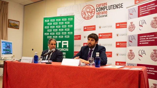 López Miras, en los Cursos de Verano del Escorial